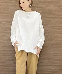 tシャツ Tシャツ 厚手ボートネック チュニックtシャツ|ZOZOTOWN PayPayモール店