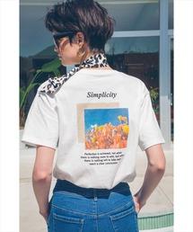 tシャツ Tシャツ バックフラワープリントTシャツ|ZOZOTOWN PayPayモール店