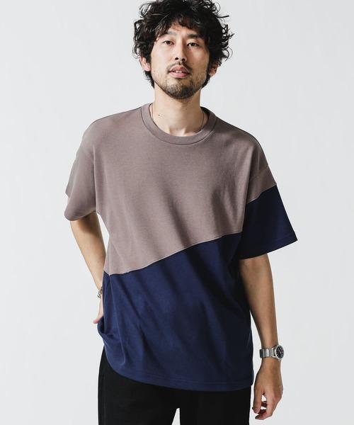 使い勝手の良い tシャツ 送料込 Tシャツ Type.2 バイカラー切替Tシャツ