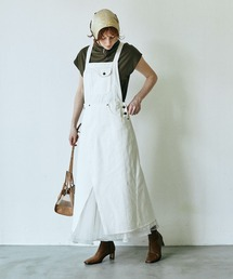 ワンピース ジャンパースカート 【LA BELLE ETUDE】【Belle vintage】チュールドッキングデニムサロペ|ZOZOTOWN PayPayモール店