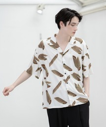 シャツ ブラウス モチーフプリント オープンカラーシャツ|ZOZOTOWN PayPayモール店