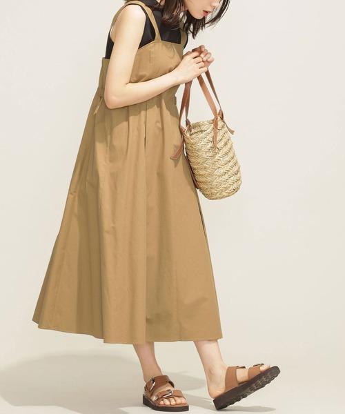 ワンピース おすすめ特集 ジャンパースカート 大注目 サイドベルトジャンパースカート WEB限定