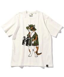 tシャツ Tシャツ WEB限定 go slow caravan/ゴースローキャラバン 探検猫 クルーネック プリントTシャツ/351908|ZOZOTOWN PayPayモール店
