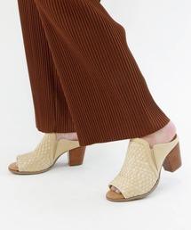サンダル MINNETONKA(ミネトンカ) / チャンキーヒール 編み込みサンダル 編みサンダル MONA|ZOZOTOWN PayPayモール店