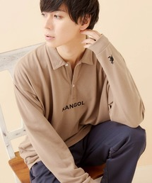 ポロシャツ KANGOL/カンゴール 別注ロゴ刺繍 ビッグシルエットL/Sポロシャツ|ZOZOTOWN PayPayモール店