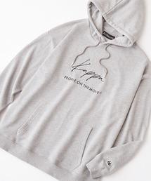 パーカー Kappa / カッパ 別注 筆記体 ロゴ オーバーサイズ プルオーバーパーカー ZOZOTOWN PayPayモール店