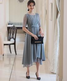 ドレス レースフィッシュテールマキシドレスロングスカート結婚式ワンピースドレス大きいサイズ対応フォーマル|ZOZOTOWN PayPayモール店