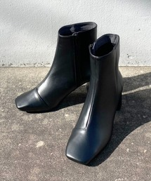 ブーツ 【STUDIOUS】スクエアトゥミドルブーツ/エコレザーショートブーツ|ZOZOTOWN PayPayモール店