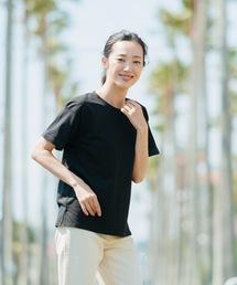 tシャツ Tシャツ 袖ロールカフサイドスリットTシャツ 汗染み防止加工素材 ビッグシルエット/オーバーサイズ|ZOZOTOWN PayPayモール店