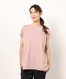tシャツ Tシャツ フレンチスリーブラウンドヘムTシャツ 汗染み防止加工素材 ビッグシルエット|ZOZOTOWN PayPayモール店