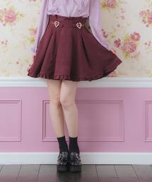スカート 裾フリルハートビジュバックルスカート|ZOZOTOWN PayPayモール店