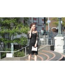 ドレス ボリュームスリーブシアーレースひざ丈のワンピースドレス|ZOZOTOWN PayPayモール店