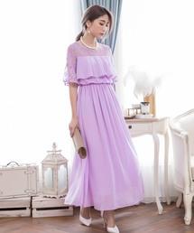 ドレス デコルテレースロングドレス|ZOZOTOWN PayPayモール店