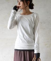 tシャツ Tシャツ フェイクレイヤードくしゅくしゅ長袖Tシャツカットソー【ロンT】|ZOZOTOWN PayPayモール店