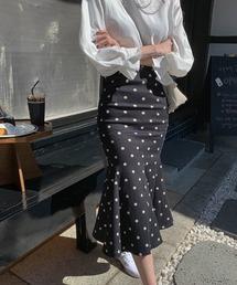 スカート ドット柄マーメイドスカート フィッシュテールスカート ZOZOTOWN PayPayモール店