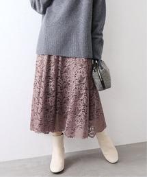 スカート 《追加3》レースフレアスカート【手洗い可能】◆|ZOZOTOWN PayPayモール店