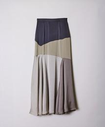 スカート サテンブロッキングスカート|ZOZOTOWN PayPayモール店