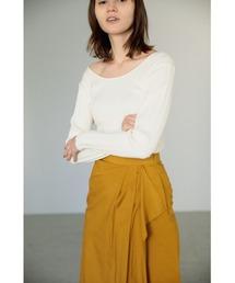 ニット washable knit randam rib tops(ウォッシャブルニットランダムリブトップス)|ZOZOTOWN PayPayモール店