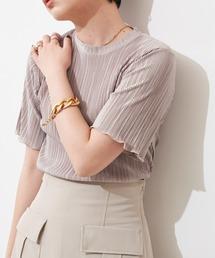 tシャツ Tシャツ ミニプリーツハーフスリーブカットソー/AUNT MARIE'S|ZOZOTOWN PayPayモール店