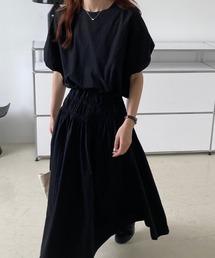 ワンピース ボリュームスリーブブラウス ギャザースカート セットアップ ワンピース ZOZOTOWN PayPayモール店