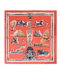 スカーフ バンダナ 70×70cmサイズ・ヴィンテージ風サテン生地スカーフ・バンダナ・ストール/100011|ZOZOTOWN PayPayモール店