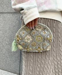 ポーチ 【GIFT】-artipur COTTAGE-ダイヤビーズ刺繍ポーチL ZOZOTOWN PayPayモール店