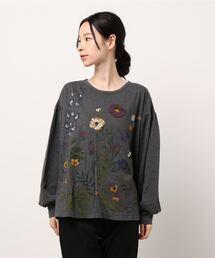 tシャツ Tシャツ 冬のお庭プリントカットソー|ZOZOTOWN PayPayモール店