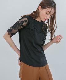 tシャツ Tシャツ エンブロイダリーレーストップス|ZOZOTOWN PayPayモール店