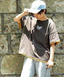 tシャツ Tシャツ GRA MICKEY&MINNIEレイヤー風TEE(D)|ZOZOTOWN PayPayモール店