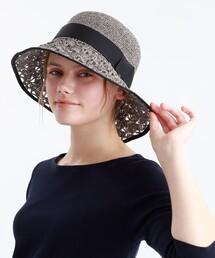 帽子 ハット ウォッシャブルペーパー透かし編みハット|ZOZOTOWN PayPayモール店