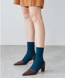 靴下 NAIGAI STYLE レディース 日本製 レーヨンシルク 18cm丈 リブ クルーソックス 03094311|ZOZOTOWN PayPayモール店