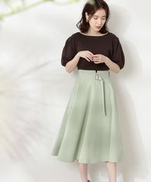 スカート ◆ゴールドバックルフレアスカート|ZOZOTOWN PayPayモール店