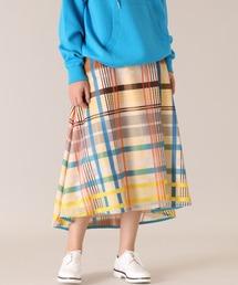 スカート 《Maison de Beige》シースルーチェックスカート《Viscotecs》|ZOZOTOWN PayPayモール店