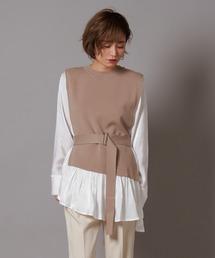シャツ ブラウス knit docking gloss shirt ZOZOTOWN PayPayモール店