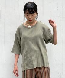 tシャツ Tシャツ Uncut Bound(アンカットバウンド) テレコアシンメトリーTシャツ|ZOZOTOWN PayPayモール店