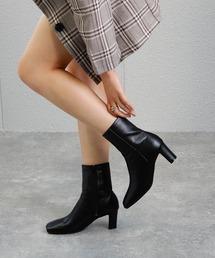 ブーツ ワイドスクエアショートブーツ ◆ ZOZOTOWN PayPayモール店