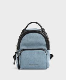 リュック デニムダブルジップバックパック / Denim Double Zip Backpack ZOZOTOWN PayPayモール店