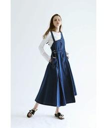 ワンピース ジャンパースカート デニム ウエストマーク ジャンパースカート|ZOZOTOWN PayPayモール店