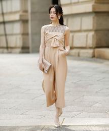 ドレス クロスリボンレースロンパースドレス 結婚式 ZOZOTOWN PayPayモール店