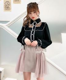 スカート リボン付オーバーチュール台形スカート|ZOZOTOWN PayPayモール店