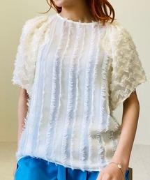 tシャツ Tシャツ スクエアフレアスリーブジャガードトップス|ZOZOTOWN PayPayモール店