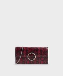 財布 ツートーンリングディティール ロングウォレット / Two-Tone Ring Detail Long Wallet ZOZOTOWN PayPayモール店