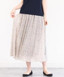 スカート 【セットアップ対応/洗える】ドット柄シフォンスカート|ZOZOTOWN PayPayモール店