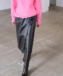 スカート フェイクレザーラップスカート|ZOZOTOWN PayPayモール店