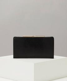 財布 LUCIA[ルチア]イタリアンレザー・リザード型押し・がま口長財布|ZOZOTOWN PayPayモール店