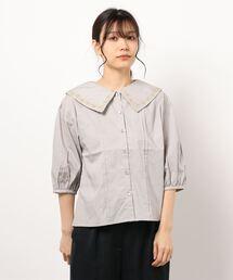 シャツ ブラウス 刺繍衿ブラウス|ZOZOTOWN PayPayモール店