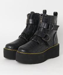 ブーツ 厚底ソールフロントジップリングブーツ|ZOZOTOWN PayPayモール店