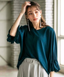 tシャツ Tシャツ 涼感素材袖タックデザインプルオーバー|ZOZOTOWN PayPayモール店
