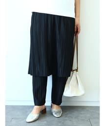 パンツ ・RAY CASSIN プリーツスカートレイヤードパンツ*|ZOZOTOWN PayPayモール店