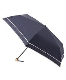 折りたたみ傘 because ピンドット柄切り替え晴雨兼用折り畳み傘|ZOZOTOWN PayPayモール店